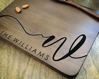 Personalized Cutting Board Personalized Custom Cutting Board Wedding Gift Cutting Board Engraved Cutting Board Anniversary Cutting Board #11