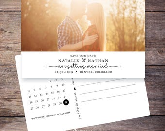Save the Date Postcard, Save-the-Date Card, Calendar, Save our Date Invite, Photo, DIY Printable, Digital File – Natalie