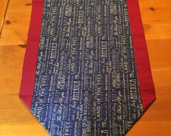 Table runner, patriotic table runner, patriotic, Memorial Day, Independence Day, 4th of July