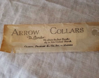 NOS, Antique, Arrow, Vintage starched collar, Cluett Peabody & Co., 4547 TIDE 13-2, in original cellophane packaging