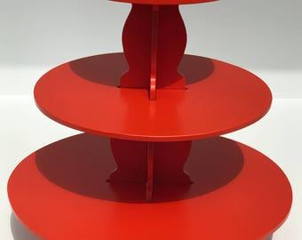 3 Tier Orange Cupcake Stand/Dessert Stand