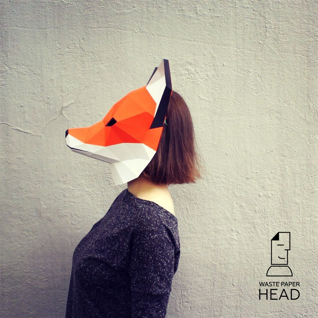 This is a picture of Amazing Printable Fox Mask
