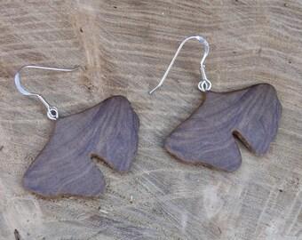 Ginkgo leaf earrings, Ginkgo Jewelry, Gift under 30, Sterling silver leaf earrings, Dangle drop leaf earrings, Nature lover herbalist gift