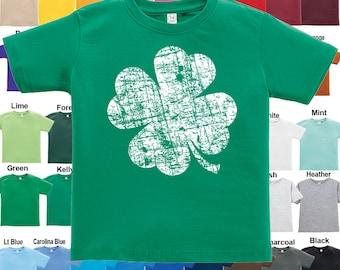 Distressed Shamrock design T-Shirt - Boys / Girls / Infant / Toddler / Youth sizes