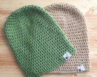 Slouchy crochet beanie, slouchy beanie, camping beanie, handmade beanie, outdoor beanie