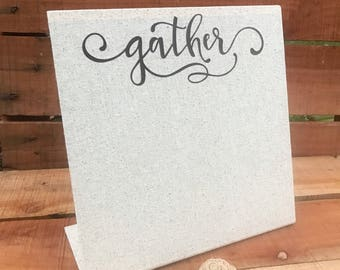 Gather Magnetic Board - Entryway Decor -Menu Board - Magnet Board - Recipe Holder - Magnet Picture Frame - Farmhouse - Message Board - Memo