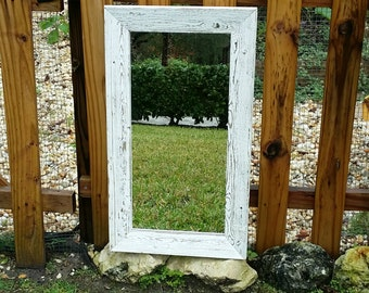 Rustic Mirror Reclaimed Barnwood Beach Nursery Cottage Chic