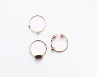 Set of three cubes/dots rings