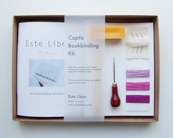Coptic Bookbinding Kit - Bubblegum
