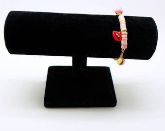 1 display bracelets in black velvet 17 x 11 cm