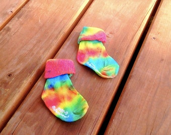 Tie Dye Baby Socks FREE WITH ONESIE