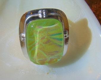 Beautiful Triple Opal set in Sterling..... size 7 only