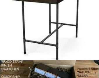 Reclaimed Wood Table, Counter Height Table, High Top Table, Bar Height Table  Made With Reclaimed Wood And Pipe Legs.