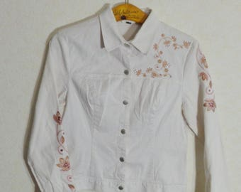 Exclusive Women Blazer/Jacket Flower embroidery Small-Medium Size