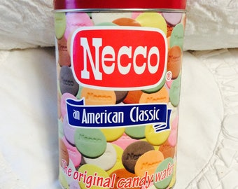 Vintage Necco Wafer Tin Box since 1847 Candy Advertising