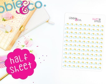 LL29 Libbie's Littles Partly Cloudy Die-Cut Vinyl Planner Stickers! Partly Sunny, Weather Stickers, Erin Condren, Happy, Personal Planners!