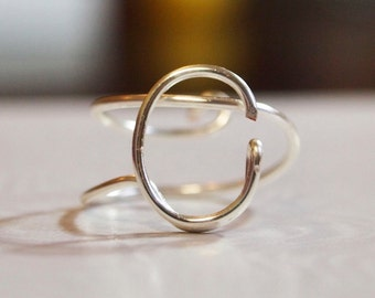 """initial """"C"""" wire wrapped ring"""