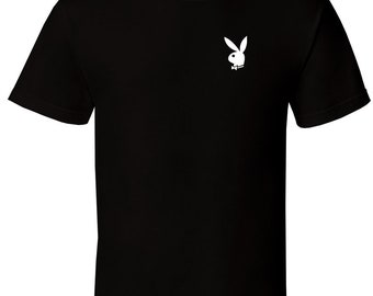 Playboy Bunny - Black T-Shirt Hef Hefner Lifestyle LA Party All Sizes S-2XL