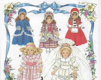 """Simplicity 8766 - Doll Clothes For 16"""" & 18"""" Collector Dolls"""