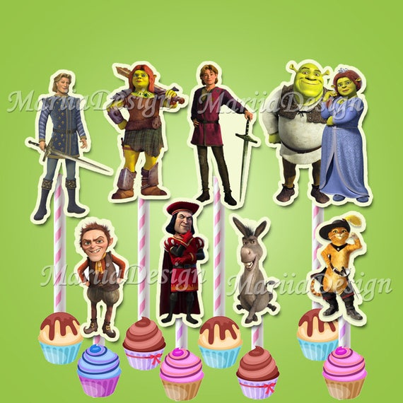 Shrek Shrek party supplies Shrek Birthday Shrek Cupcake