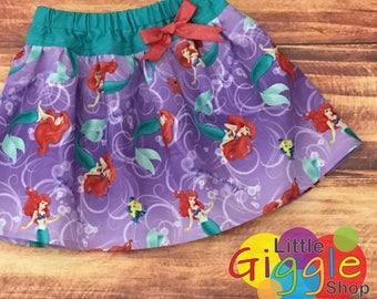 Little Mermaid Skirt for Toddler Girl, Little Mermaid Circle Skirt, Little Girls Mermaid, Ariel Circle Skirt, Toddler Mermaid, Mermaid Dress