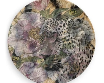 Leopard Peonies/animalier Melamine plate 19 cm diam/Desk Organizer/Party-BBQ plate/Endless ChiC Svuotatasche animalier Plate Melamine