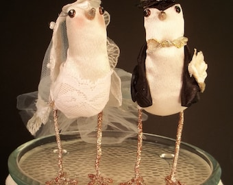 Wedding Cake Topper Custom made to order Ferdi Birds miniature love birds