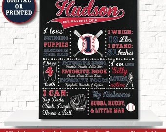 Baseball Chalkboard - Baseball Party Decoration- Baseball Birthday Decorations - Baseball Birthday - Baseball Sign - Baseball 1st Birthday