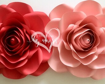 "PDF Large Rose Template 17"" - 18"", DIY paper Roses, paper flowers, rose template, DIGITAL file."