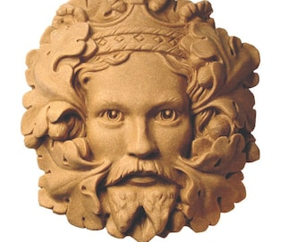 Green King Greenman Wall Plaque – Portland or Cotswold Stone