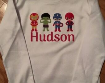 Personalized super hero shirt