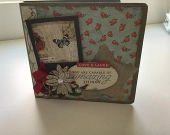 Vintage Shabby Chipboard  Album