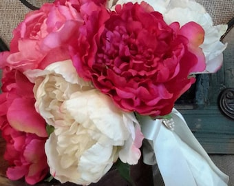 Pink Peony Bouquet, Wedding Bouquet, Peony Bouquet