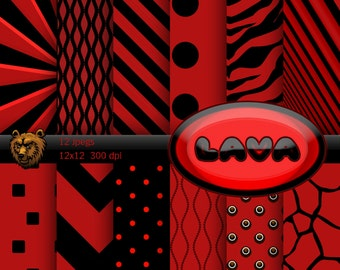 red and black digital paper, red and black background, red and black scrapbook
