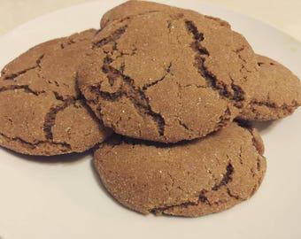 One Dozen Soft Molasses Cookies