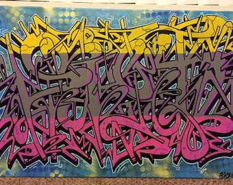 Sick1 graffiti canvas