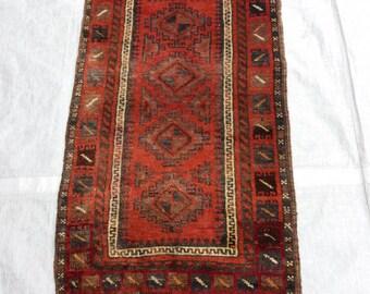 """Antique Orient Afghan  """" Balouch""""  Torba Bagface  Rug   3.8  x  2 ft.  //  115 x 57 cm. .    - Sale ! -"""
