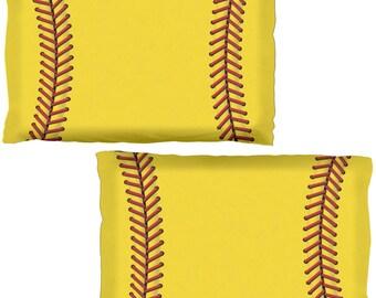 Softball All Over Pillow Case Set