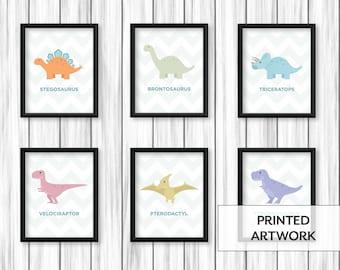 Nursery Dinos | Set of 6 Prints