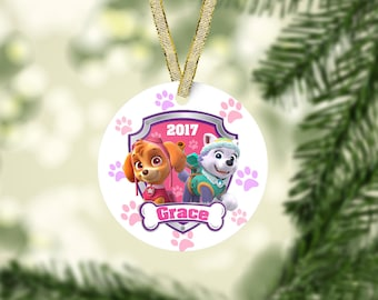 paw patrol christmas ornament everest ornament skye ornament kid christmas ornament baby