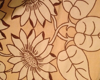 Lot of 2 Vintage 1950s? Cotton Table Runners~Sunflowers~Scalloped~Lace Edging