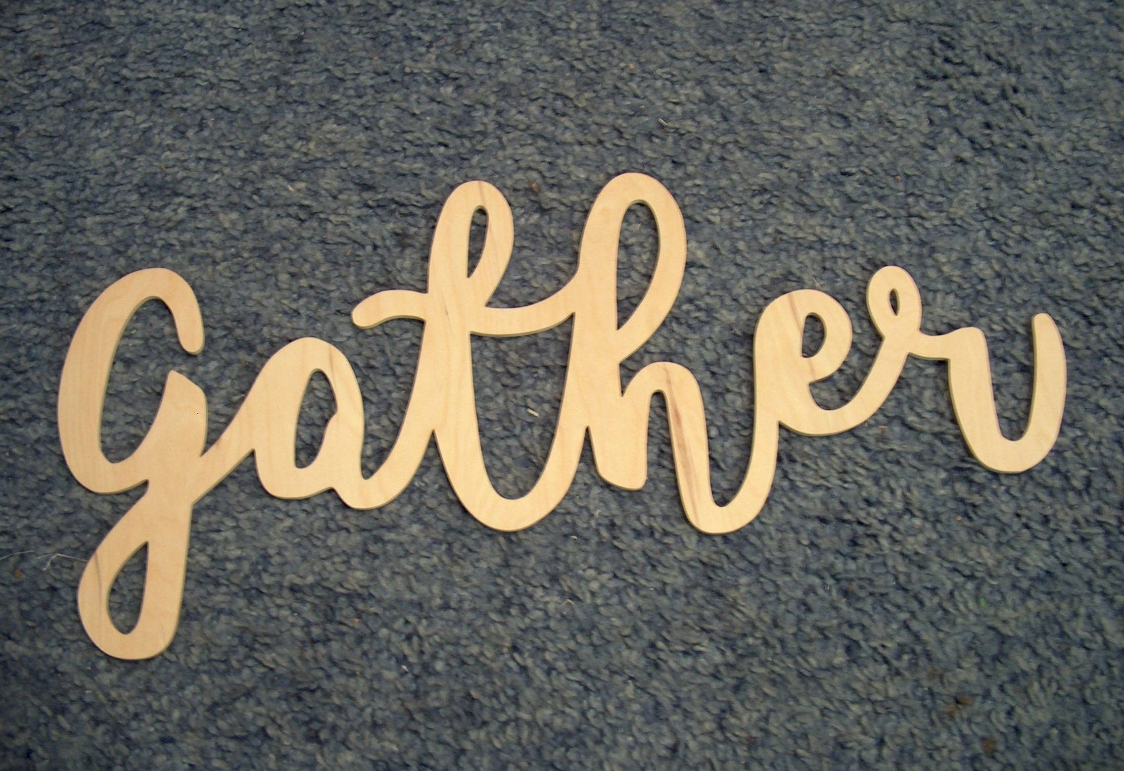 Gather Wood Sign Wood Words Wooden Letters Wall Decor