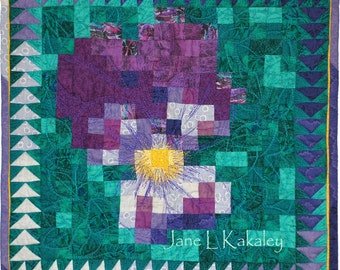 Quilt Pattern - PDF - Violet Mosaic Art Quilt Pattern - Immediate Download