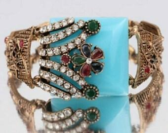 Turkish Antique colorful bangle bracelet vintage look