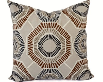 Two Pillow Covers - Brown Throw Pillows - Brown Pillow Cover - Caramel Pillow - Pillow Cover 16 x 16 inch 18 x 18 inch 20 x 20 Euro Sham