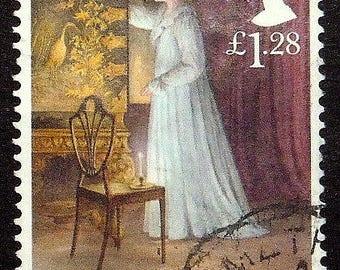 Jane Austen, Northanger Abbey UK -Handmade Framed Postage Stamp Art 22080AM