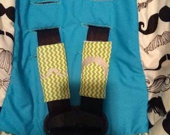 Personalized car seat, seat belt cover set