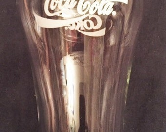 Coca Cola tapered bell glass