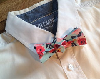 pink origami bowtie