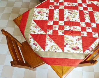Cherrytime tabletop PDF sewing pattern - patchwork pattern - patchwork tabletop - quilted tabletop - digital download sewing pattern